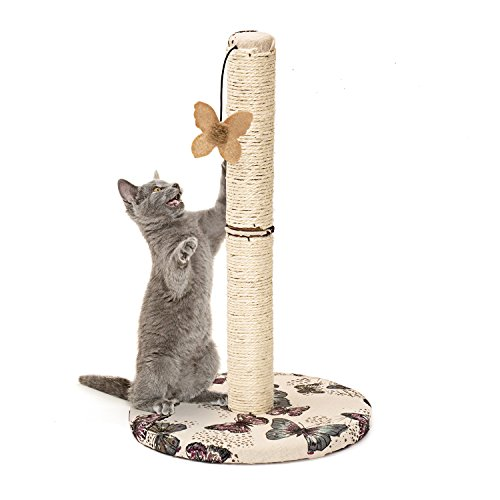 Cat Scratching Post with Hanging Butterfly Toy