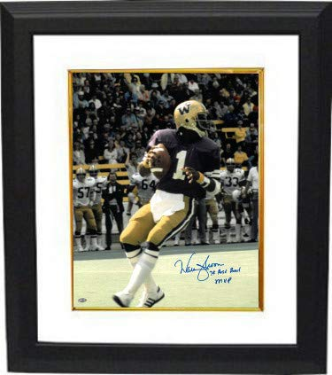 - Warren Moon Autographed Signed Memorabilia Washington Huskies 16x20 Photo Custom Framed 78 Rose Bowl Mvp - Mill Creek Hologram - Certified Authentic