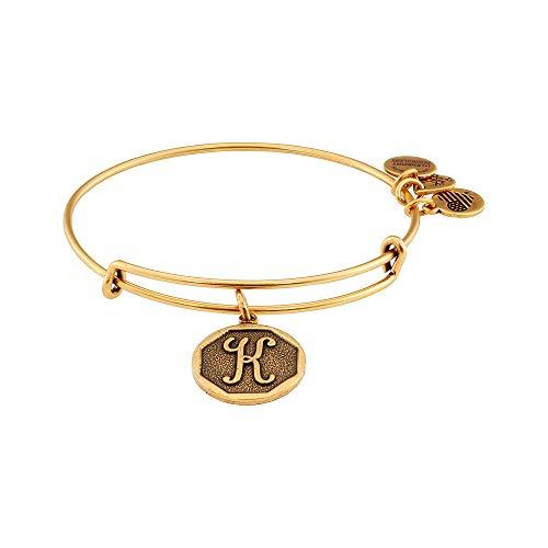 "Alex and Ani Rafaelian Gold-Tone Initial K Expandable Wire Bangle Bracelet, 2.5"" from Alex and Ani"