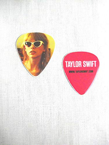 New Taylor Swift Printed Guitar Pick Color Photo White Sunglasses RED Tour 2013 ()