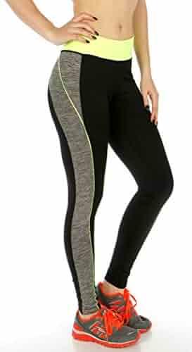 97f4fb23c SERENITA Sports Leggings for Women, Colorblock Workout Gym, Fitness Yoga  Pants