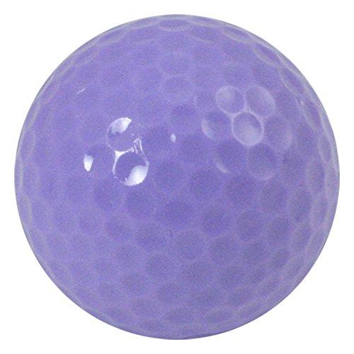 Colored Golf Balls, (Pack of 12 Balls) Plain, Non-Printed (Light Purple) ()