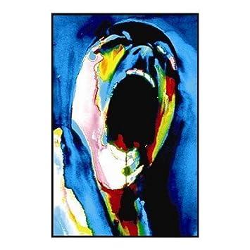 Pink Floyd The Wall Screaming Face Flocked Blacklight Musi Custom Fashion Modern Decorative Art Poster