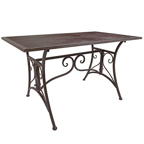 Cheap  Titan Outdoor Rustic Antique Coffee Table Porch Patio Garden Deck Decor Rust..