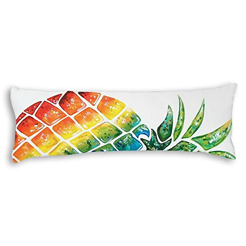 Cheap Wonbye Large Tropical Watercolor Pineapple Pattern Decorative Extraordinary Cheap Body Pillow Covers