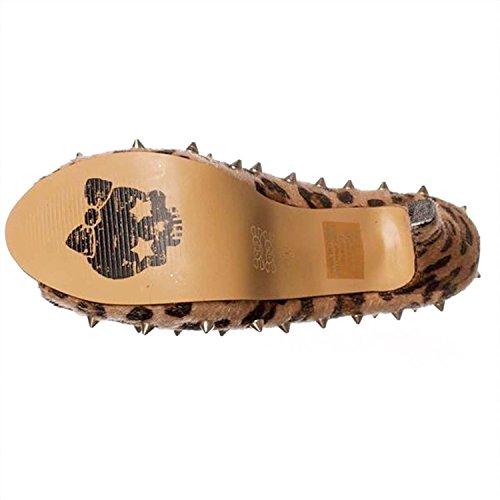 Abbey Dawn Kvinnor Wth Leopard Peep Toe Plattformen Pumpar Leopard / Beige
