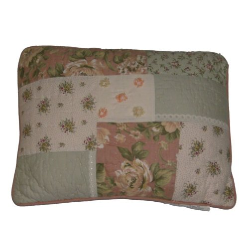 JCPenney J C Penney Lace Garden Floral Patchwork Throw Pillow Pretty Peach Accent Cushion for ...