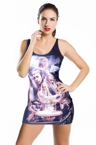 Celeb Inspired Digital Print Tank Dress Bodycon Clubwear