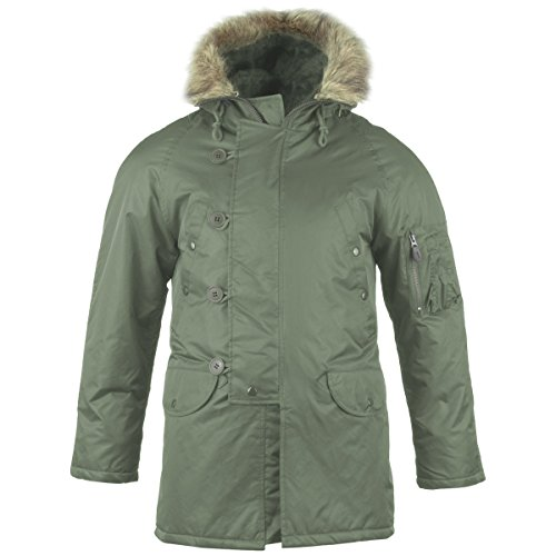 (Mil-Tec N3B Flight Jacket Olive size XL )