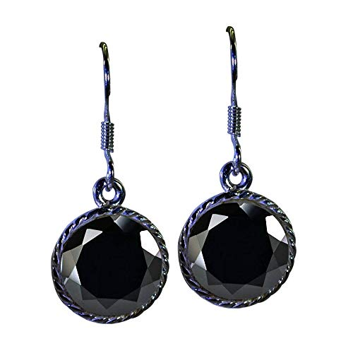 CHOOSE YOUR COLOR Genuine Gemstones 925 Sterling Silver Dangle Earrings For Women Indian Handmade Jewelry