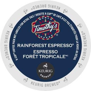 Timothy's World Coffee Rainforest Espresso 96 K-Cups (K Coffee Cups Timothys)