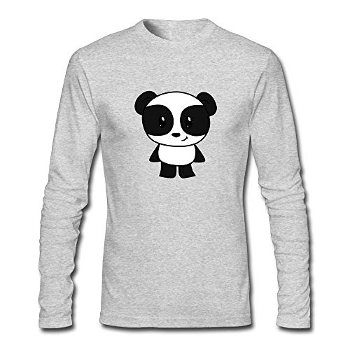 Banana King Panda Cute Long-sleeve Tee Shirts Casual Long Sleeve T Shirt Men/Women ()