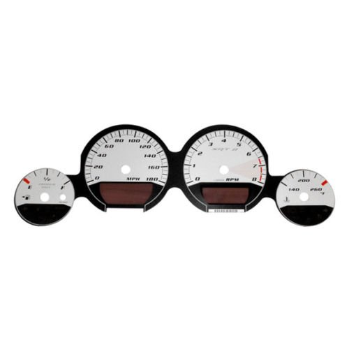 US Speedo MAG070 - Daytona Edition Gauge Faces - White / White Night - 180 MPH - for: Dodge Mag / Charg / Challenger SRT