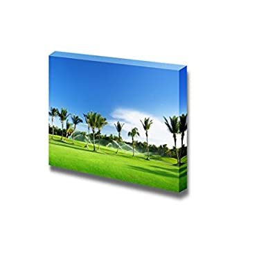 Canvas Prints Wall Art - Irrigation Golf Course in Dominican Republic - 12