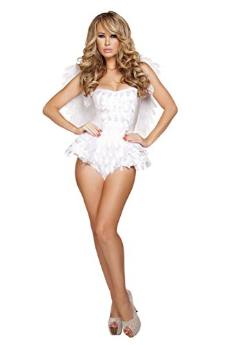 White Angel Costume (Roma Costume Women's 1 Piece Alluring Angel, White, Small)