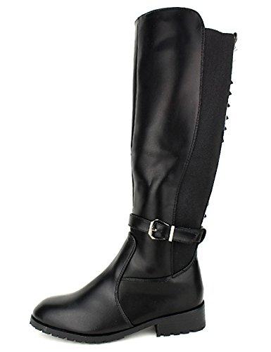 Black Cendriyon Clous Avec Stephan Noir Femme Botte Cavalière Chaussures WnWOPX
