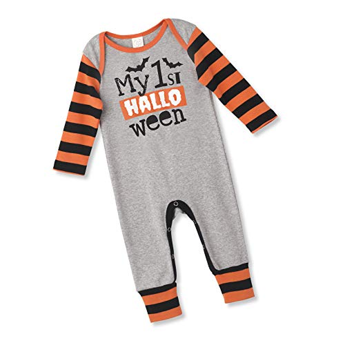 Tesa Babe My 1st Halloween Romper for Newborn & Toddlers Baby Boys & Girls, Multi (Grey 1st Halloween, 0-3 ()