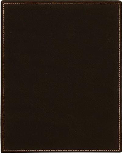 Ridgecrest Black Handcrafted Faux Leather Plaque