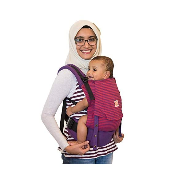 Kol Kol Baby Carrier Bag, 100% Cotton, Hand Woven, Ergonomic Baby Carry Bag with Hood & Storage Pocket, 6 Months to 4