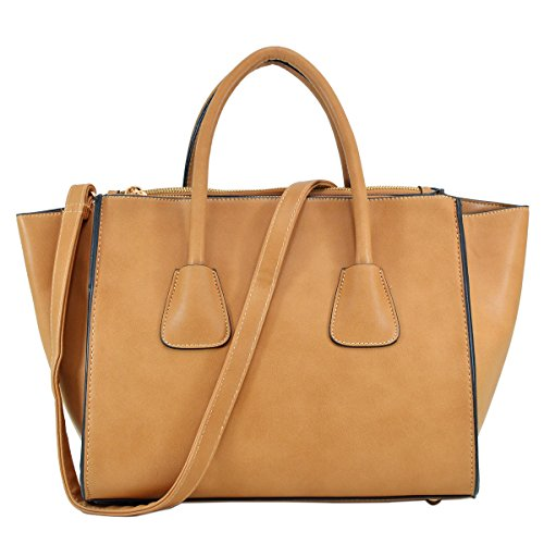 Dasein Women Large Winged Handbags for Women Designer Shoulder Bag Tote Satchel Purses