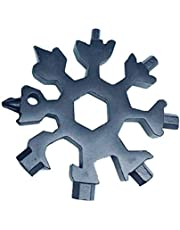 Nomvic 18-in-1 Multi - Combinación de Tarjetas de Herramientas Productos compactos portátiles para Exteriores Tarjeta de Herramientas para Copos de Nieve