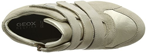 Geox D Illusion D, Zapatillas Altas para Mujer Beige (lt Taupe/lt Goldch62l)