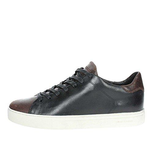 London Crime 20 92101K18 Uomo Nero Sneakers Marrone Crime Bassa London RvxAE5Aqw
