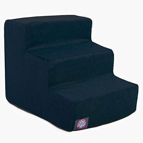 3 Step Navy Blue Suede Pet Stairs By Majestic Pet Products ()