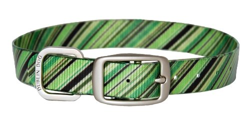 Dublin Dog Koa Collection Oxford 12.5 by 17-Inch Dog Collar, Medium, Apple Orchard