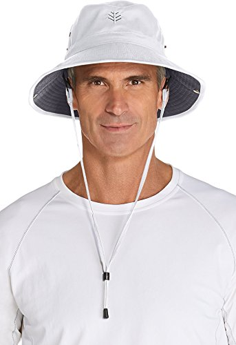 Coolibar UPF 50+ Men's Featherweight Bucket Hat - Sun Protective (Large - Stone/Dark Khaki) (Custom Bucket Hat compare prices)