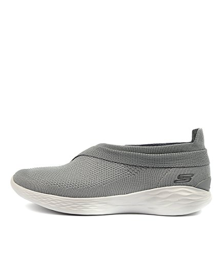 Womens Black Luxe BY Shoes Black Black Casuals Back YOU GREY You SKECHERS SMOOTH Sneakers qSnUng8
