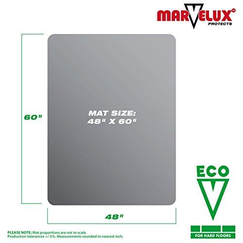 Marvelux 48 x 60 ECO Enhanced Polymer Rectangular Chair Mat for Hard Floors Transparent Hardwood Floor Protector Multiple Sizes