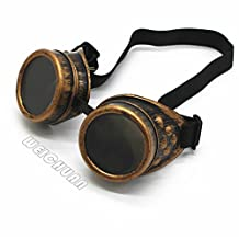 WEICHUAN New Sell Vintage Steampunk Goggles Glasses Welding Cyber Punk Gothic