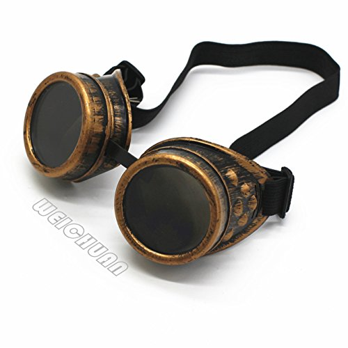 WEICHUAN New Sell Vintage Steampunk Goggles Glasses Cosplay Cyber Punk Gothic(purple - Steampunk Goggles Glasses
