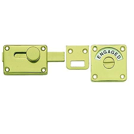 Polished Brass Bathroom Indicator Door Bolt Jv2552bpb Amazon Co Uk