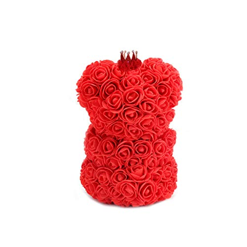 - Treaxer Rose Bear Flower Teddy 15 Inch Gifts for Wedding Birthday and Mother's Day