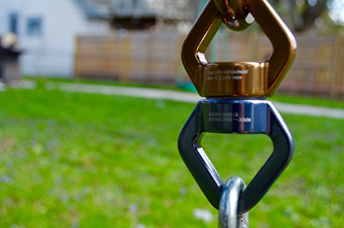 Super Swing Spinner by Planet Earth Play: The Smoothest, Safest Swing Swivel (Gold/Blue)