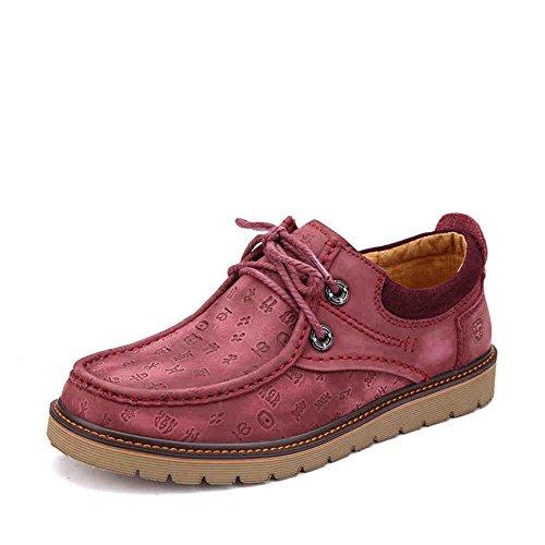 Zapatillas De Cuero Para Hombres Prossebull Business Business (eur 43, Marrón) Wine Red