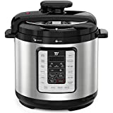 TaoTronics TT-EE007 Electric Pressure Cooker 8QT, 10-in-1 Multi-Use Programmable, No Chemical Coatings Inner Pot, for Slow Cooking, Rice, Steamer, Sauté, Yogurt Maker, Food Warmer, Sterilizer, with Cookbook, Silver