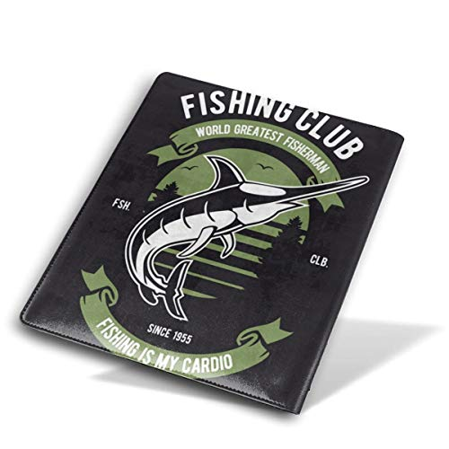 ZzFurel Fishing Club Book Cover Protector Fits Most Hardcover Textbooks Up to 9 X 11