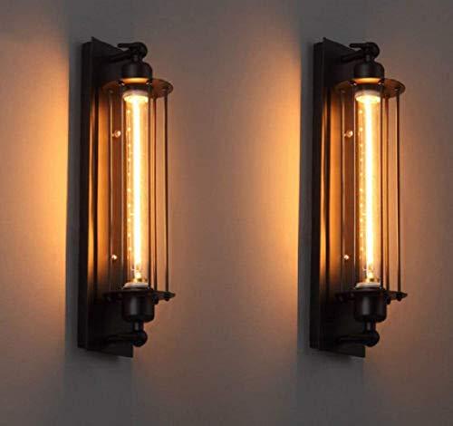 FLTRADE 8W LED wandlamp indoor draadkooi Edison vintage retro metalen cafés antieke wandlamp buiskooi loft verlichting…