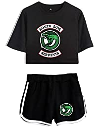 SERAPHY Riverdale Crop top T-Shirts and Shorts Sets for Girls and Women