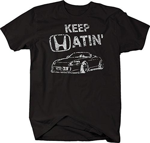 OS Gear Distressed - Keep Hatin Racecar S2000 Lowered Fast JDM Racing Tshirt - XLarge Black