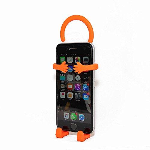 Bondi Silicon Flexible Cell Phone Holder, (Orange)