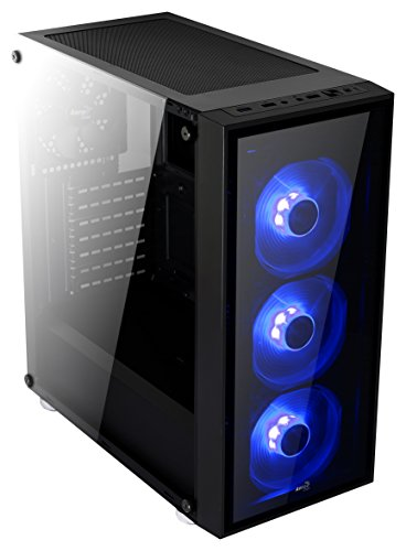 AeroCool Quartz-Blue Front and Side Tempered Glass Mid Tower