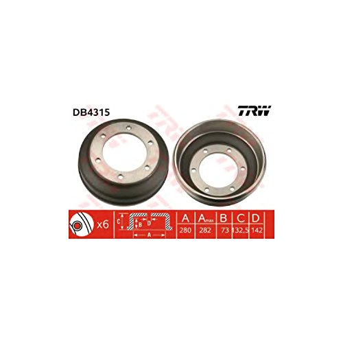 TRW DB4315 Brake Drums: