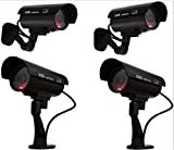 Fake Security Cameras Trendmart® Dummy Indoor /outdoor Camera with LED ( 4 pack)