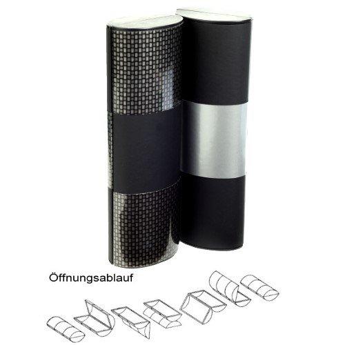 Zauberetui Brillenetui LOGIC Carbon medium lang bicolor 14103C - Etui mit Farbwechsel im Carbon Look