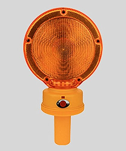 BL2LHD AMBER TYPE A/C LED Barricade Light w/ Photocell 3VDC 2500 Hours 2xD Batteries 7