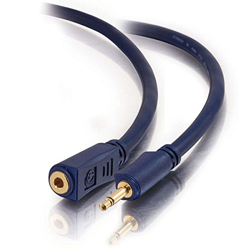 C2G / Cables To Go 40627 Velocity 3.5mm M/F Mono Audio Extension Cable, Blue